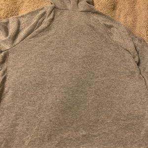 Crop top grey hoodie